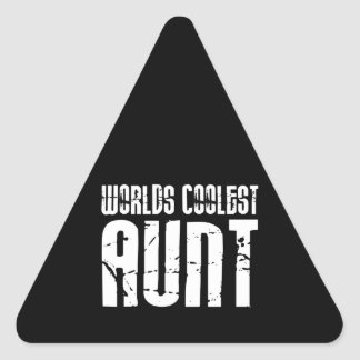 Cool Aunty Aunts Aunties Worlds Coolest Aunt Triangle Sticker