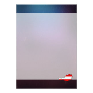Cool austria Flag Map 13 Cm X 18 Cm Invitation Card