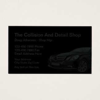 Cool Automotive Collision Auto Body Business Card