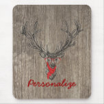 Cool awesome funny trendy deer sketch mouse pad