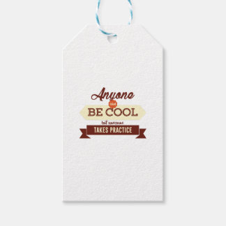 Cool & Awesome Practice Makes Perfect Gift Tags