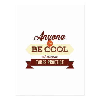 Cool & Awesome Practice Makes Perfect Postcard