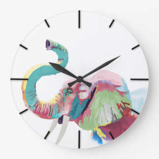 Cool awesome trendy colorful vibrant elephant clocks