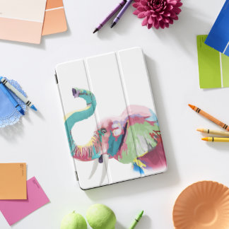 Cool awesome trendy colorful vibrant elephant iPad pro cover