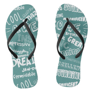 Cool Awesome Words Thongs