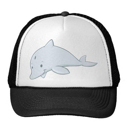 Cool Baby Bottlenose Dolphin Cartoon Mesh Hats