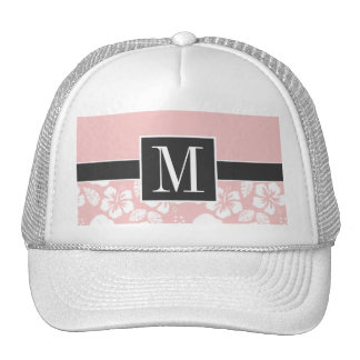 Cool Baby Pink Tropical Hibiscus Hats