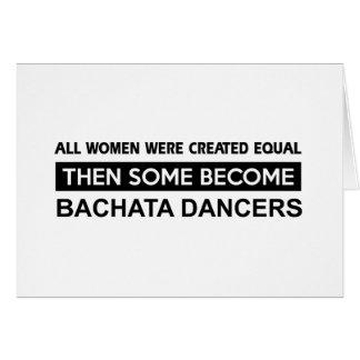 Cool Bachata Dancing designs Greeting Card
