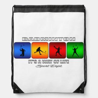 Cool Badminton It Is A Way Of Life Drawstring Bag