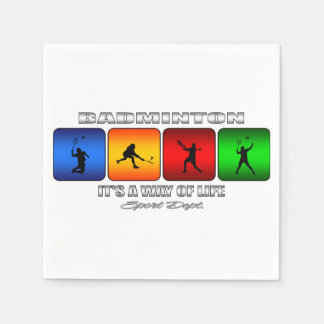 Cool Badminton It Is A Way Of Life Paper Napkin