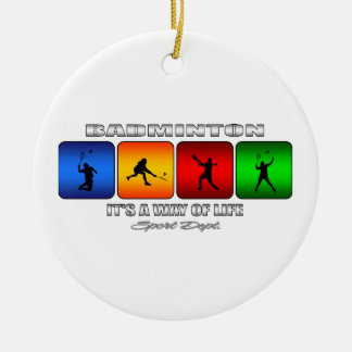 Cool Badminton It Is A Way Of Life Round Ceramic Decoration