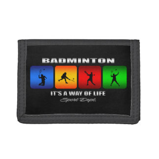 Cool Badminton It Is A Way Of Life Tri-fold Wallet
