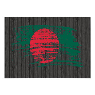 Cool Bangladeshi flag design Poster