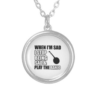 Cool Banjo Lovers Designs Personalized Necklace
