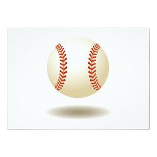 Cool Baseball Emblem 13 Cm X 18 Cm Invitation Card