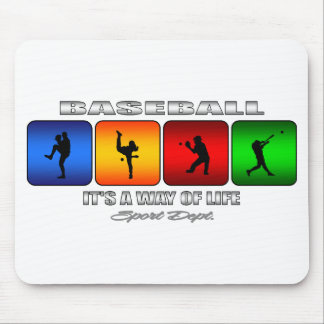 Cool Baseball Mouse Pad