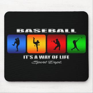 Cool Baseball Mouse Pad
