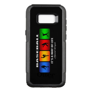 Cool Baseball OtterBox Commuter Samsung Galaxy S8+ Case