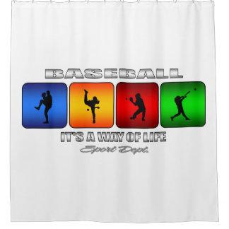 Cool Baseball Shower Curtain