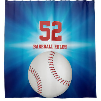 Cool Baseball | Sport Gift Shower Curtain