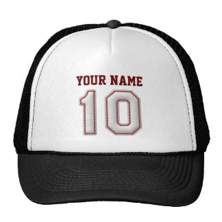 Cool Baseball Stitches - Custom Name and Number 10 Cap