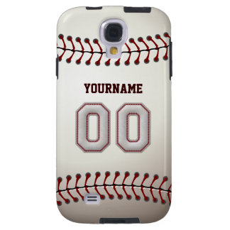 Cool Baseball Stitches - Custom Number 00 and Name Galaxy S4 Case