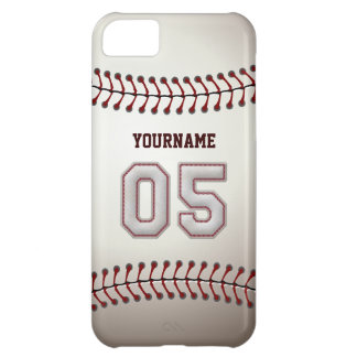 Cool Baseball Stitches - Custom Number 05 and Name iPhone 5C Case