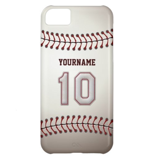 Cool Baseball Stitches - Custom Number 10 and Name Case For iPhone 5C