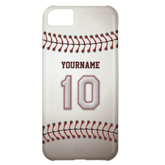 Cool Baseball Stitches - Custom Number 10 and Name iPhone 5C Case