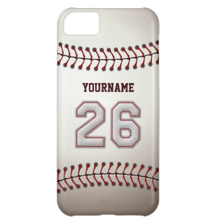 Cool Baseball Stitches - Custom Number 26 and Name iPhone 5C Case