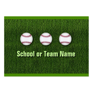 Cool Baseball Team - Coach Player Trainer Staff Pack Of Chubby Business Cards