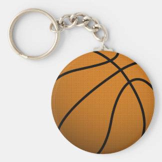 Cool Basketball and Custom Sports B Ball Basic Round Button Key Ring