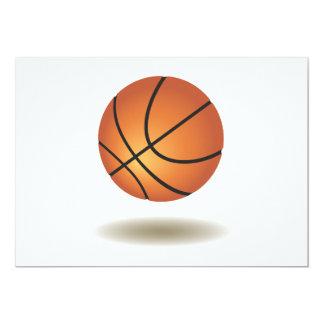 Cool Basketball Emblem 13 Cm X 18 Cm Invitation Card