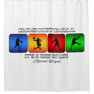 Cool Basketball It Is A Way Of Life Shower Curtain