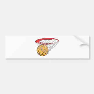 Cool Basketball Shoot in Ring Net Shirt Bumper Sticker