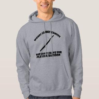 cool bassoon designs hoodies