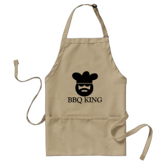 Cool BBQ KING apron for men | Beige