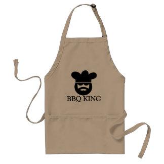 Cool BBQ KING apron for men | Beige