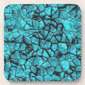 Cool beach blue pebbles textured hard coasters