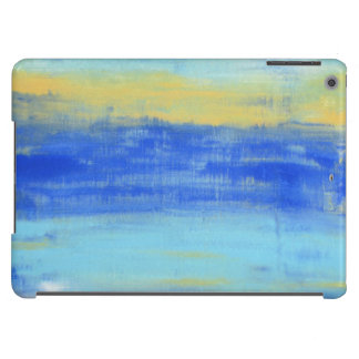 Cool Beach Blue Yellow Distressed Abstract Art iPad Air Covers