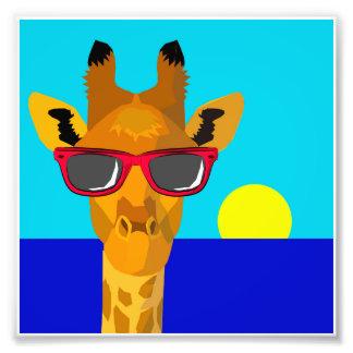 Cool Beach Giraffe Photo Print