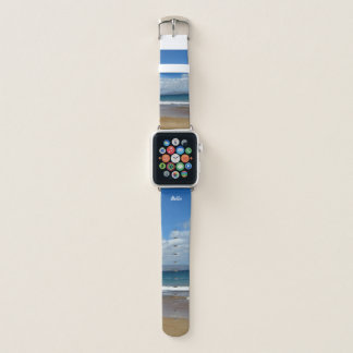 Cool Beach Landscape with Sand and Sky Apple Watch Band
