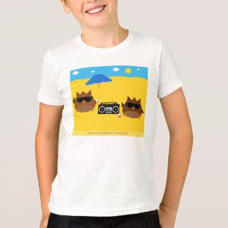 Cool Beach Owls Design - Kids T-Shirts