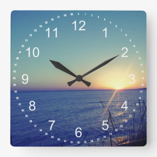 Cool Beach Square Wall Clock