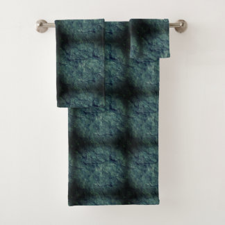 Cool beach stone textured background towel set