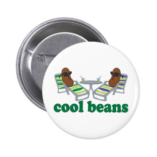 Cool Beans Pinback Button