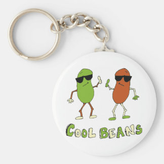 Cool Beans Basic Round Button Key Ring