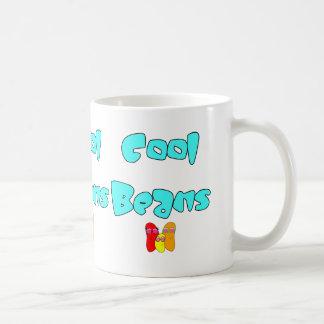 Cool Beans Classic White Coffee Mug