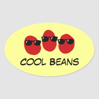 Cool Beans oval car bumper stickers