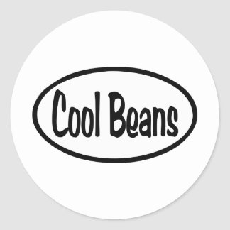 Cool Beans Oval Round Sticker